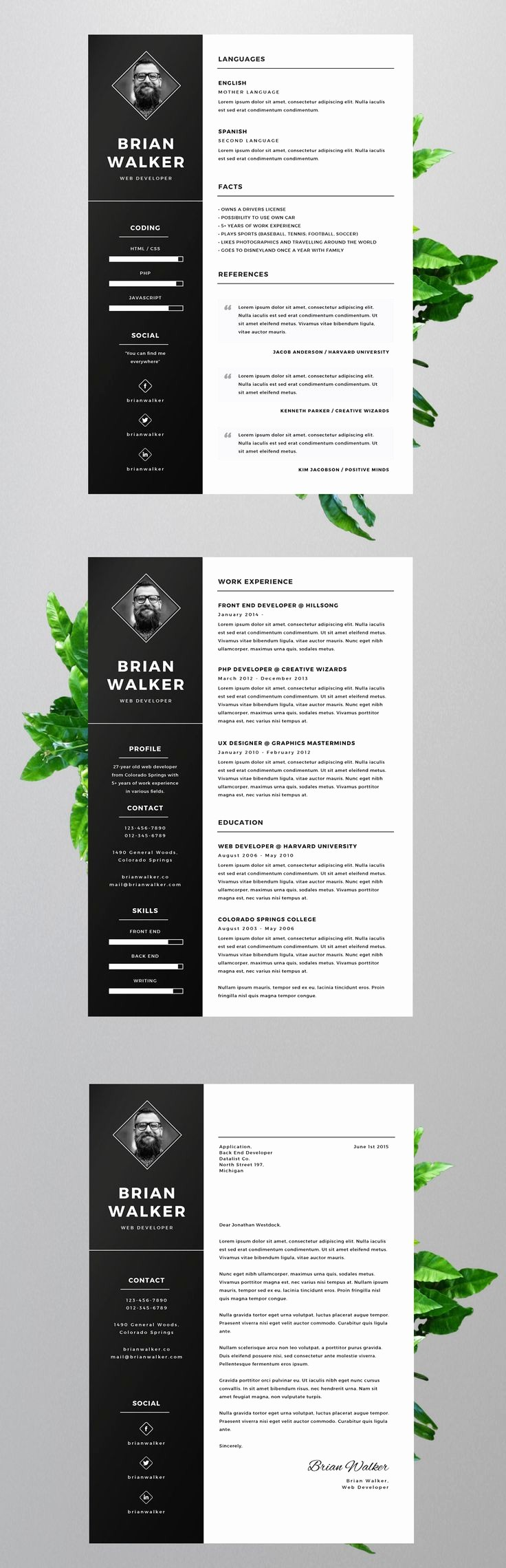 Creative Resume Template Microsoft Word Inspirational Best 25 Free Creative Resume Templates Ideas On Pinterest