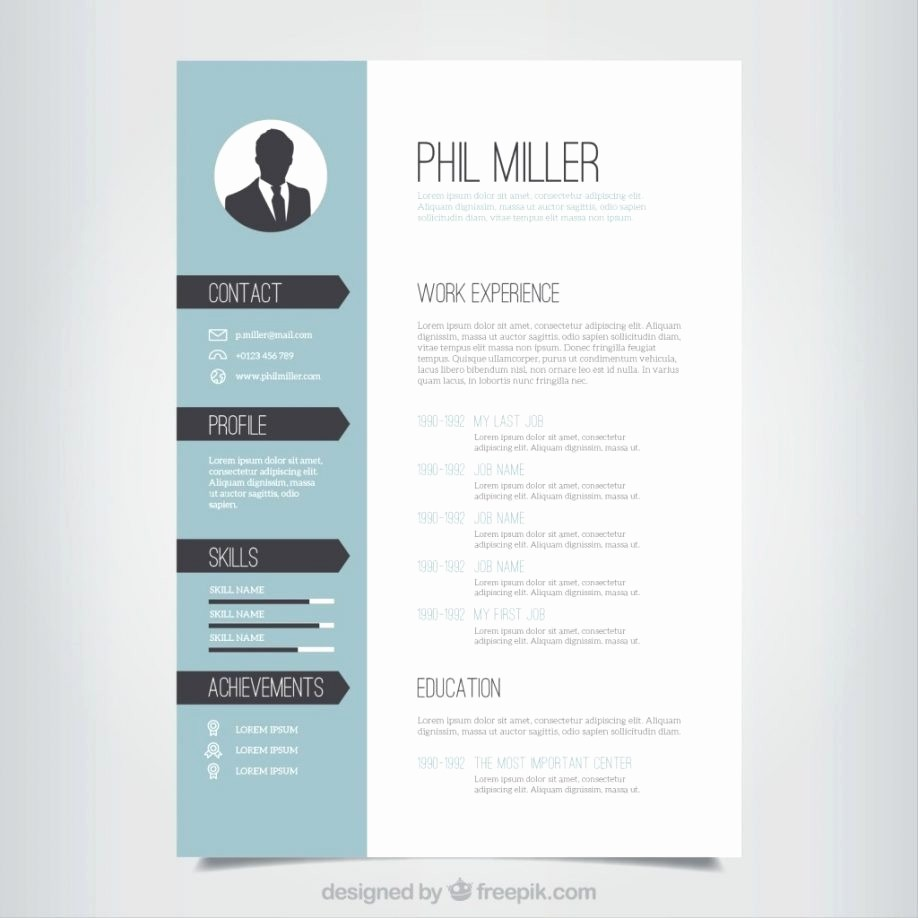 Creative Resume Template Microsoft Word Lovely Free Creative Cv Templates Word Resume format Examples