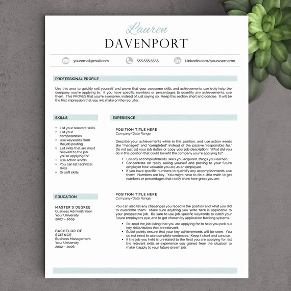 Creative Resume Template Microsoft Word Luxury Creative Resume Template for Word Free by Landeddesignstudio