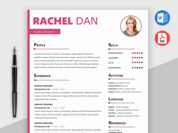 Creative Resume Template Microsoft Word Unique [2018] Free Resume Templates Ms Word Pdf Download In 1 Minute