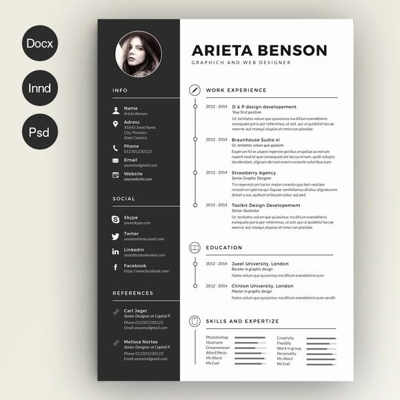 Creative Resume Template Microsoft Word Unique 28 Minimal & Creative Resume Templates Psd Word & Ai
