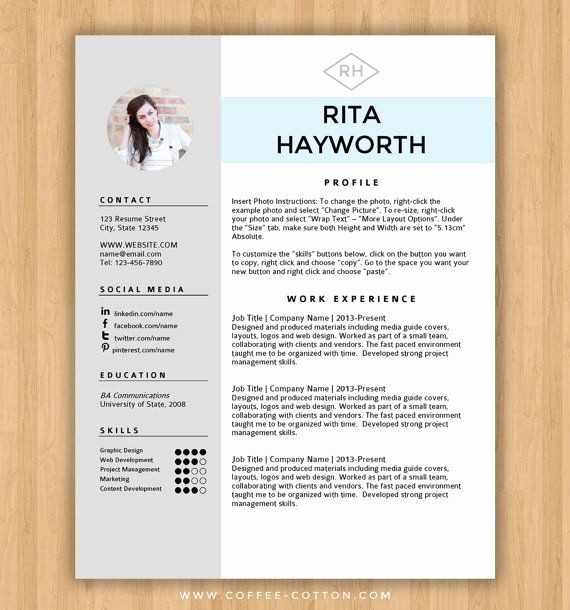 Creative Resume Template Microsoft Word Unique Best 25 Free Cv Template Ideas On Pinterest