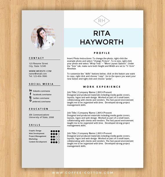 Creative Resume Template Microsoft Word Unique Best 25 Free Cv Template Ideas On Pinterest