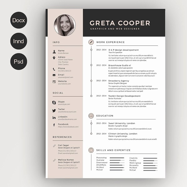 Creative Resume Template Microsoft Word Unique Resume Template Graphic Word