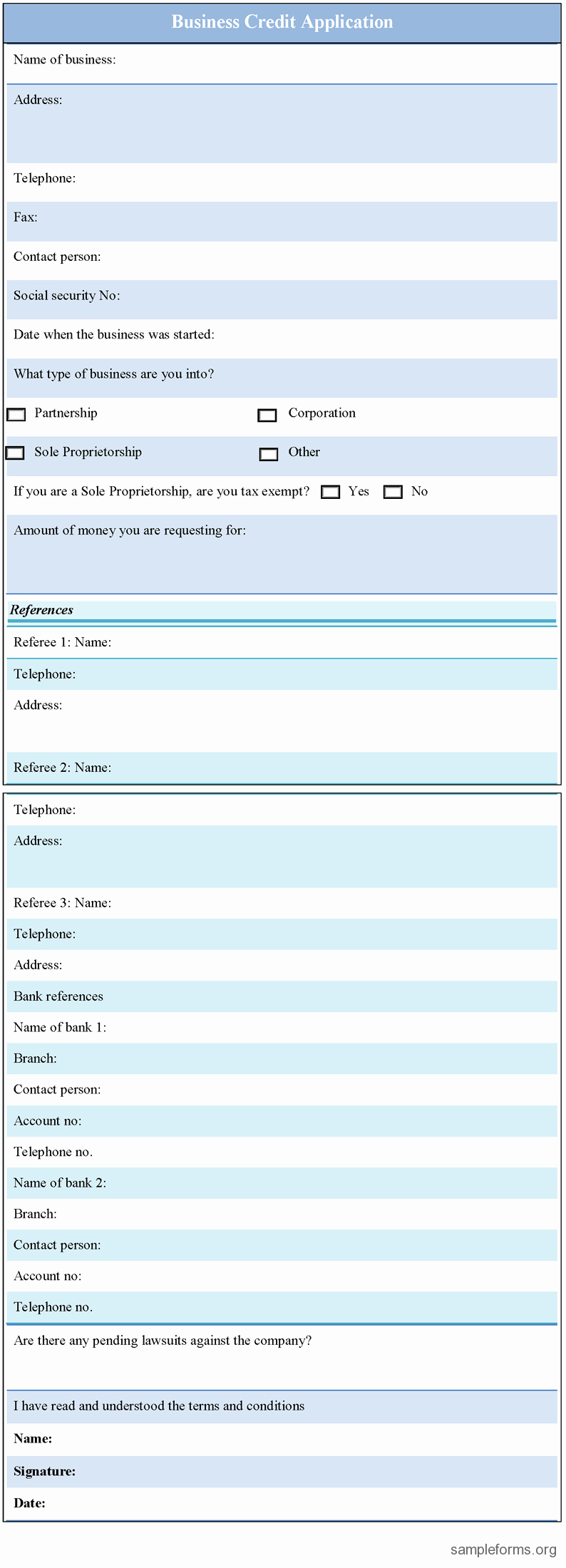 Credit Application form for Business Fresh Business License Application form Sample forms
