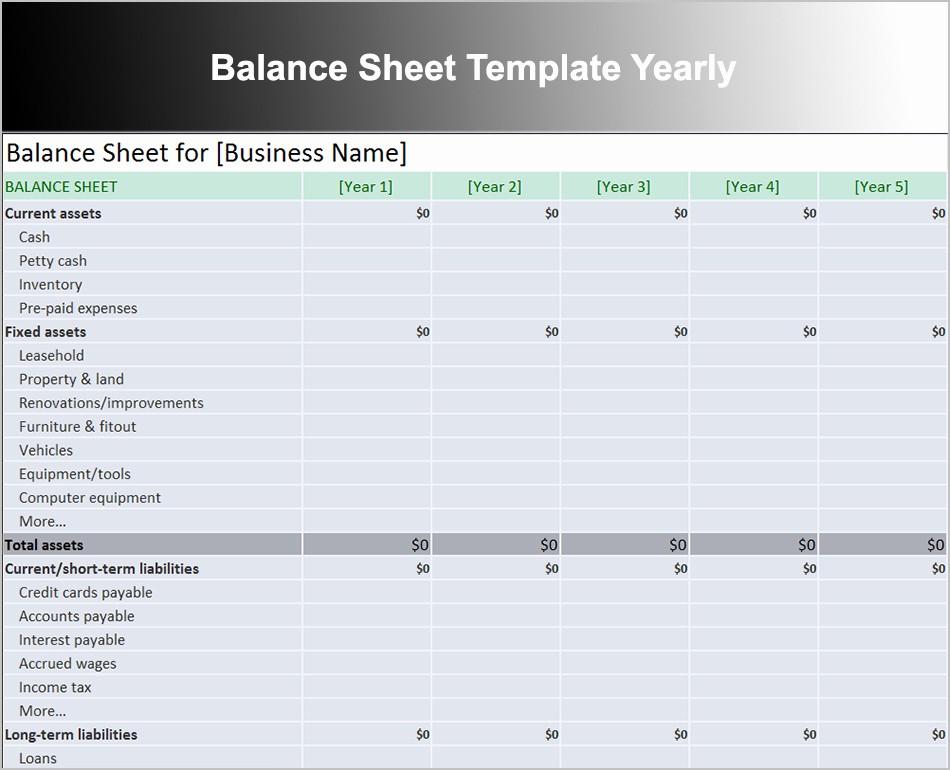 Credit Card Balance Sheet Template Fresh 10 Balance Sheet Template Free Word Excel Pdf formats