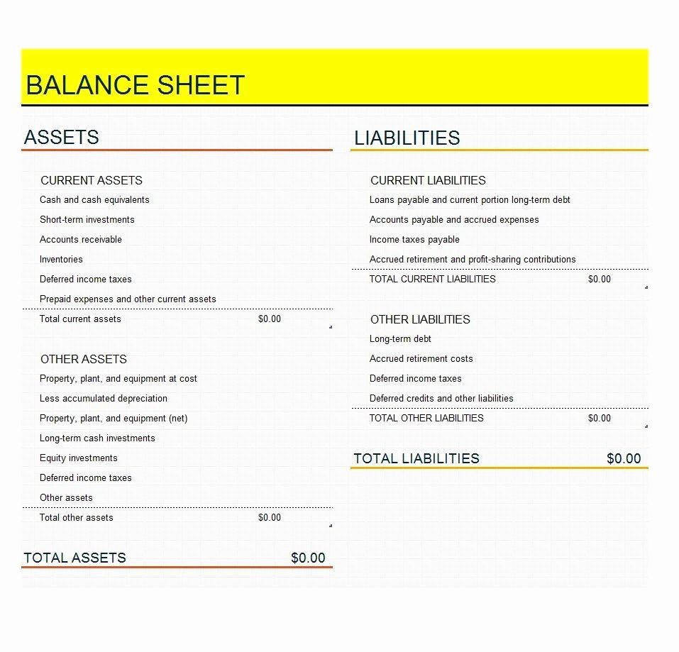 Credit Card Balance Sheet Template Luxury 38 Free Balance Sheet Templates & Examples Template Lab