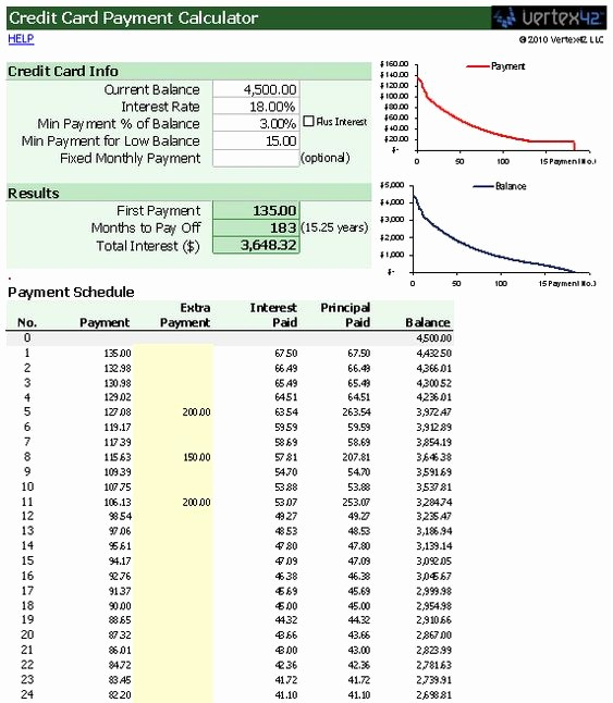 Credit Card Payment Excel Template Awesome Use This Free Template for Excel to Figure How Much Your