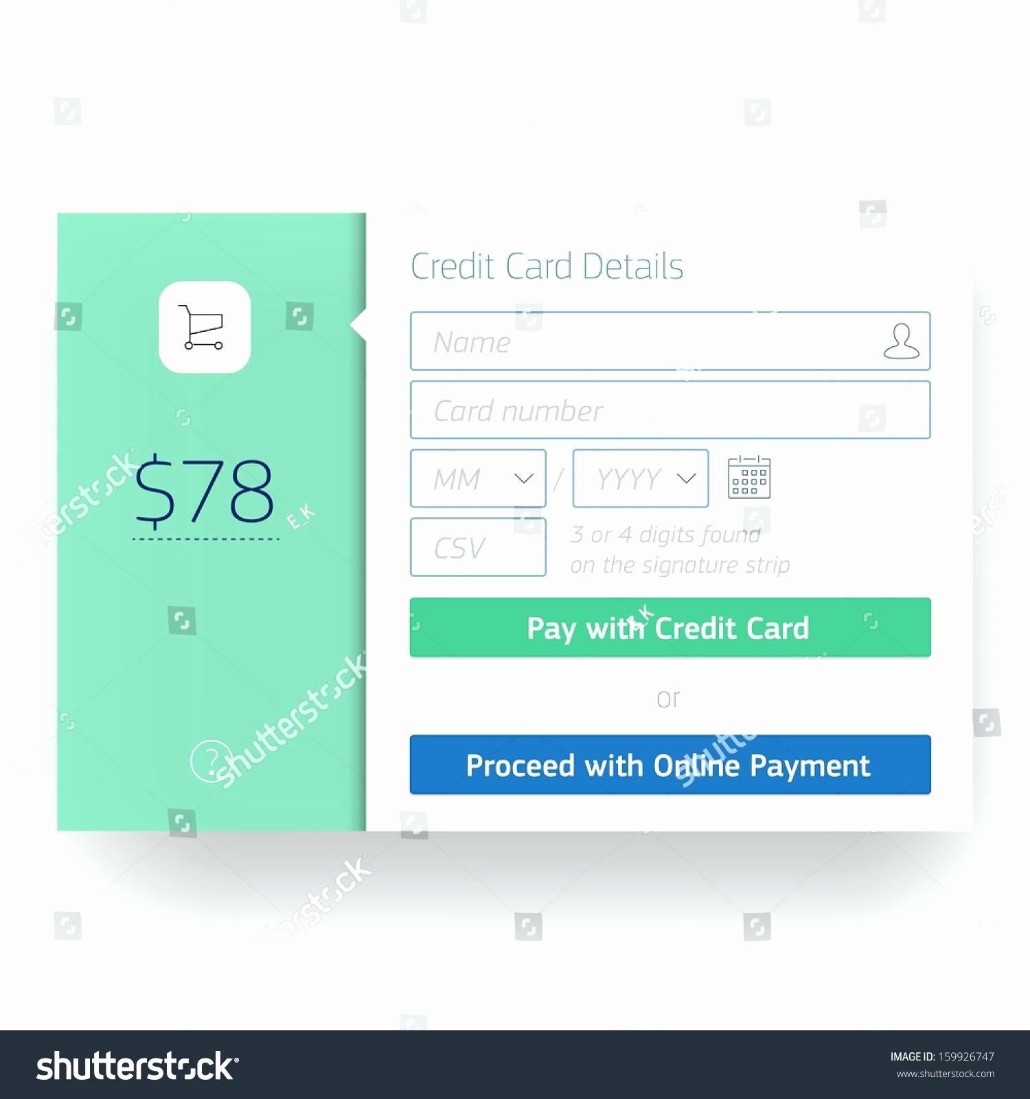 Credit Card Payment Excel Template Elegant Template Credit Card Payment Template Excel
