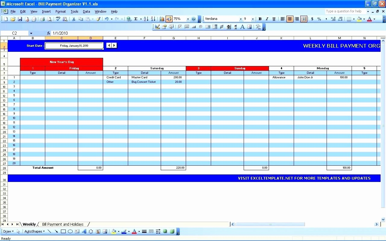 Credit Card Payment Excel Template Fresh Credit Card Payment Excel Template