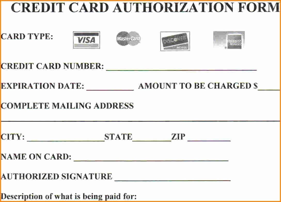 Credit Card Payment Excel Template Inspirational 25 Credit Card Authorization form Template Free Download