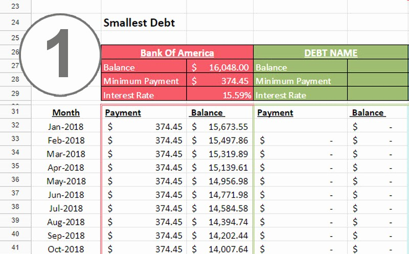 Credit Card Payment Excel Template Inspirational Debt Snowball Spreadsheet E Beautiful Home