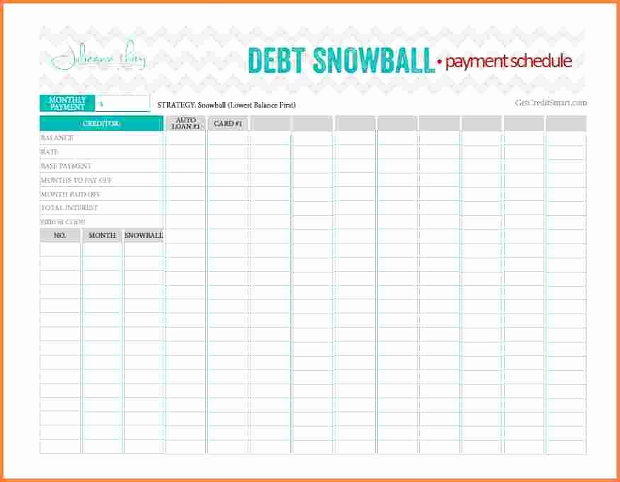 Credit Card Payment Excel Template Luxury 8 Snowball Credit Card Payoff Spreadsheet