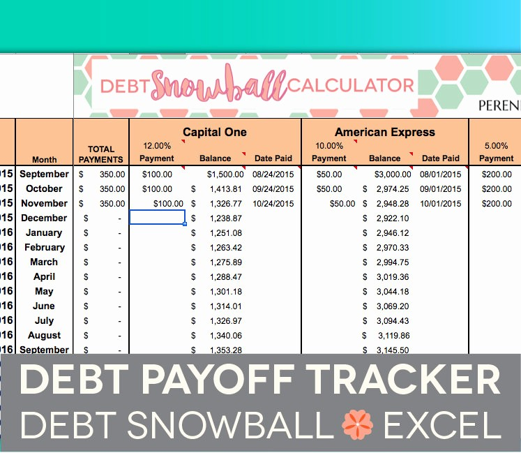 Credit Card Payment Tracking Spreadsheet Beautiful Debt Payoff Spreadsheet Debt Snowball Excel Credit Card