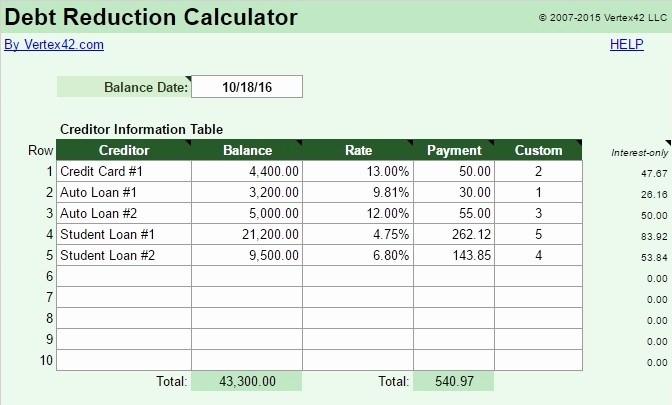 Credit Card Payoff Calculator App Fresh A Simple tool for Creating A Killer Debt Repayment Plan