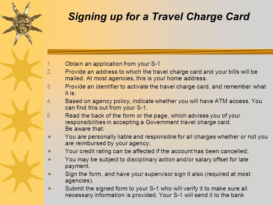 Credit Card Sign Out Sheet Awesome the Government Travel Card Ppt Video Online