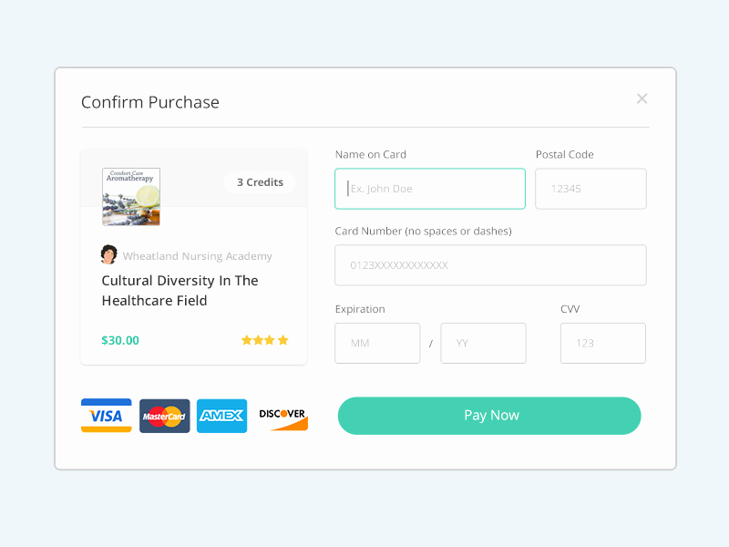 Credit Card Sign Out Sheet Beautiful Payment form by Alex Lauderdale Dribbble
