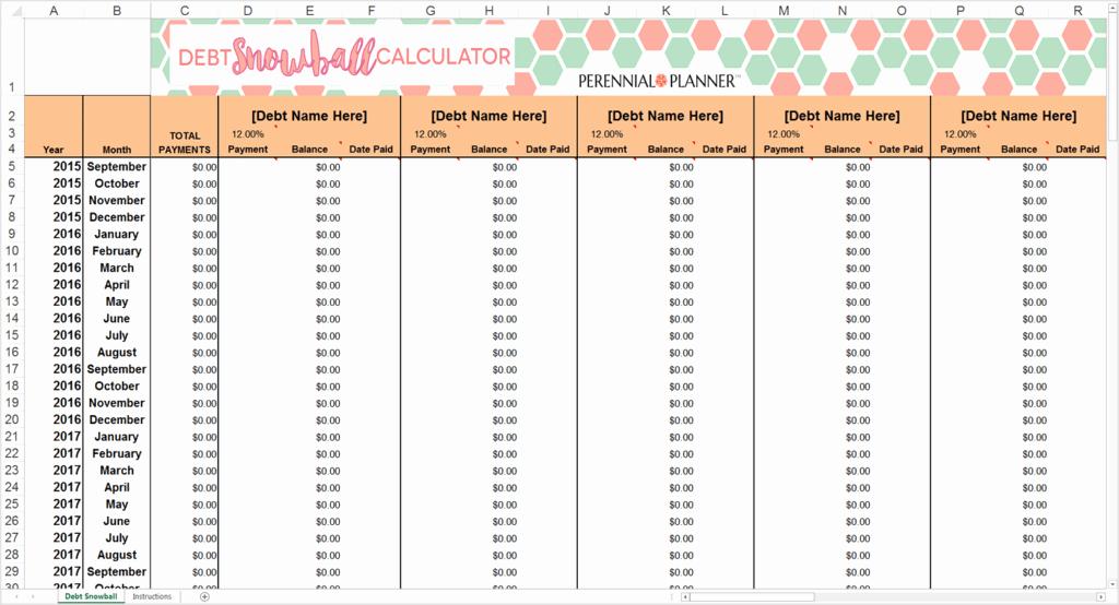 Credit Card Snowball Calculator Excel Elegant 9 Debt Snowball Excel Templates Excel Templates