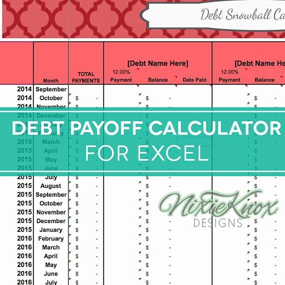 Credit Card Snowball Calculator Excel Elegant Debt Payoff Calculator for Excel Track Your Interest