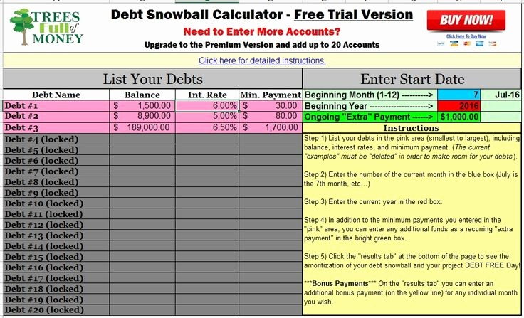 Credit Card Snowball Calculator Excel Fresh 17 Best Ideas About Debt Snowball On Pinterest