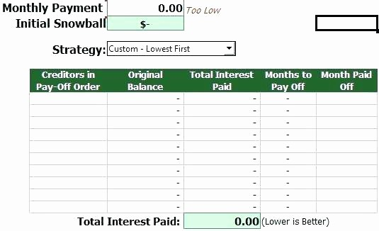 Credit Card Snowball Calculator Excel Inspirational Debt Snowball Worksheet Excel Credit Card Calculator Full