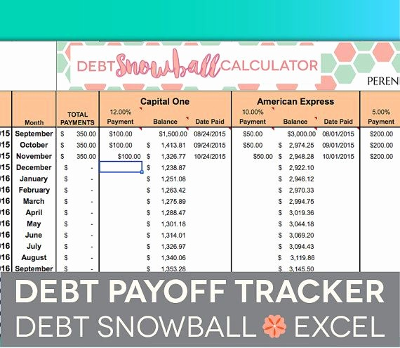 Credit Card Snowball Calculator Excel Luxury Debt Payoff Spreadsheet Debt Snowball Excel Credit