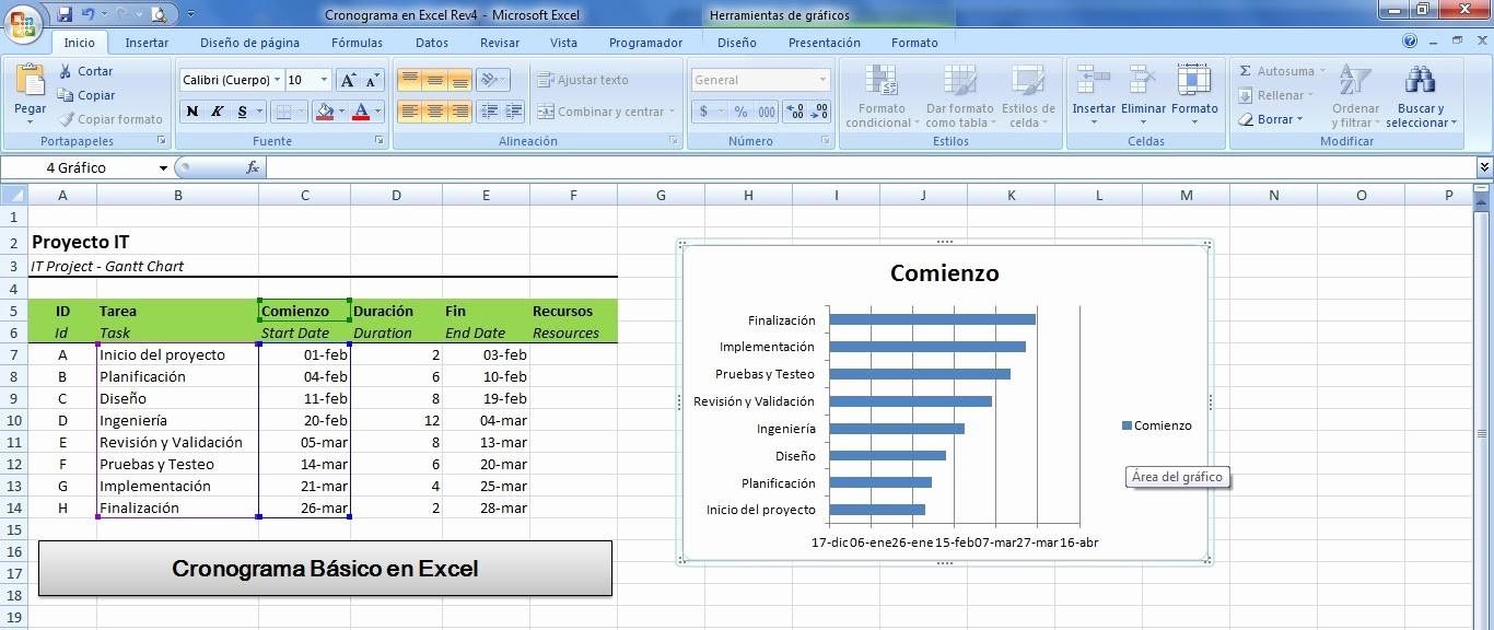 Cronogramas De Actividades En Excel Best Of Mini Aplicaciones En Excel Cronograma Básico En Excel