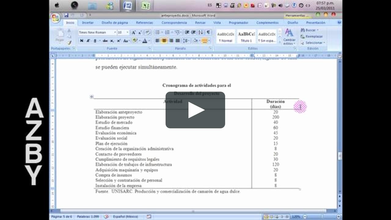 Cronogramas De Actividades En Excel Elegant O Crear Un Cronograma De Actividades En Excel On Vimeo