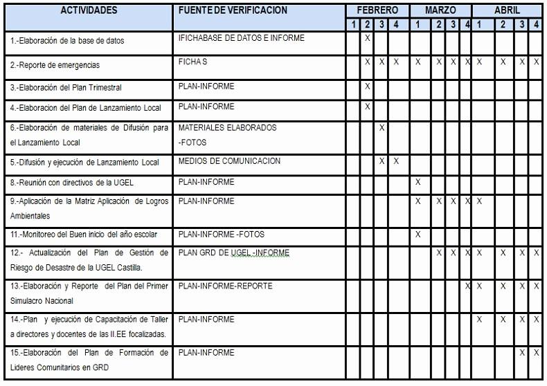 Cronogramas De Actividades En Excel Inspirational Ejemplo De Cronograma De Actividades