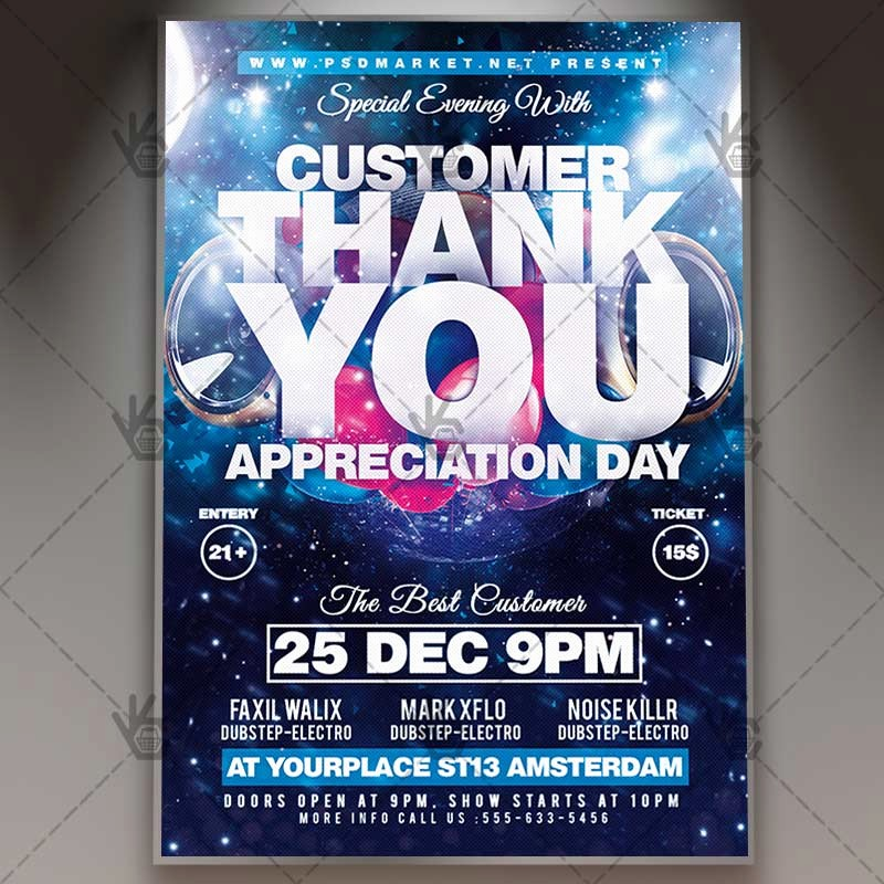 Customer Appreciation Day Flyer Template Awesome Appreciation Day Business Flyer Psd Template
