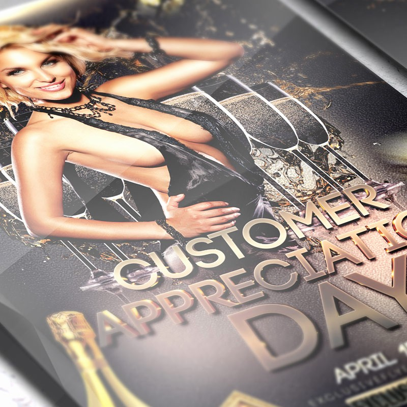 Customer Appreciation Day Flyer Template Awesome Customer Appreciation Day – Premium Flyer Template