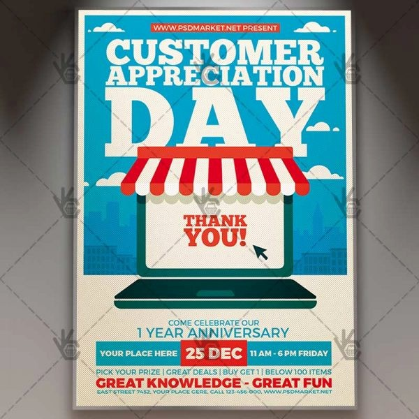 Customer Appreciation Day Flyer Template Beautiful Customer Appreciation Day Business Flyer Psd Template