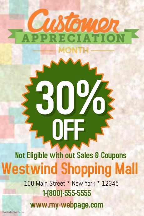 Customer Appreciation Day Flyer Template Elegant Customer Appreciation Template