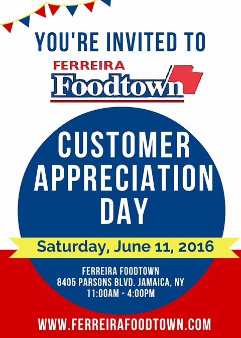 Customer Appreciation Day Flyer Template Inspirational Customer Appreciation Day 2016 Ferreira Foodtown Customer