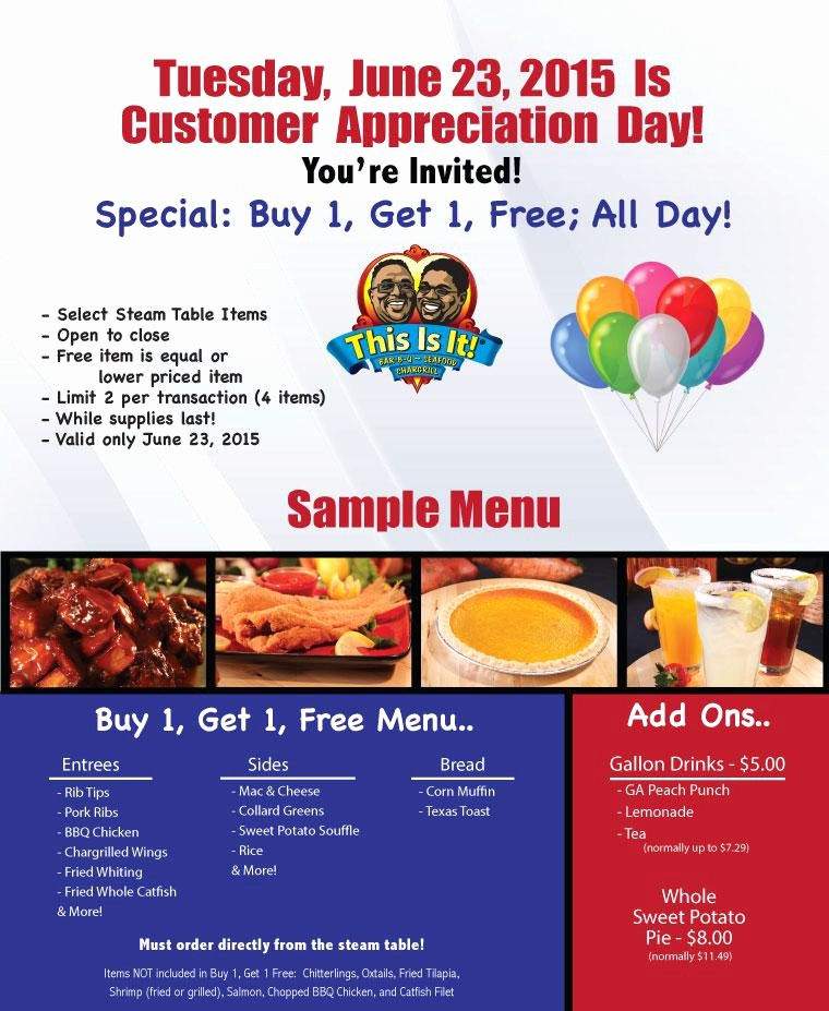 Customer Appreciation Day Flyer Template Luxury Customer Appreciation Flyer Templates Related Keywords