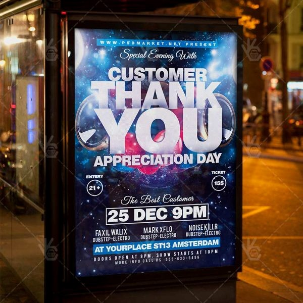 Customer Appreciation Day Flyer Template New Appreciation Day Business Flyer Psd Template