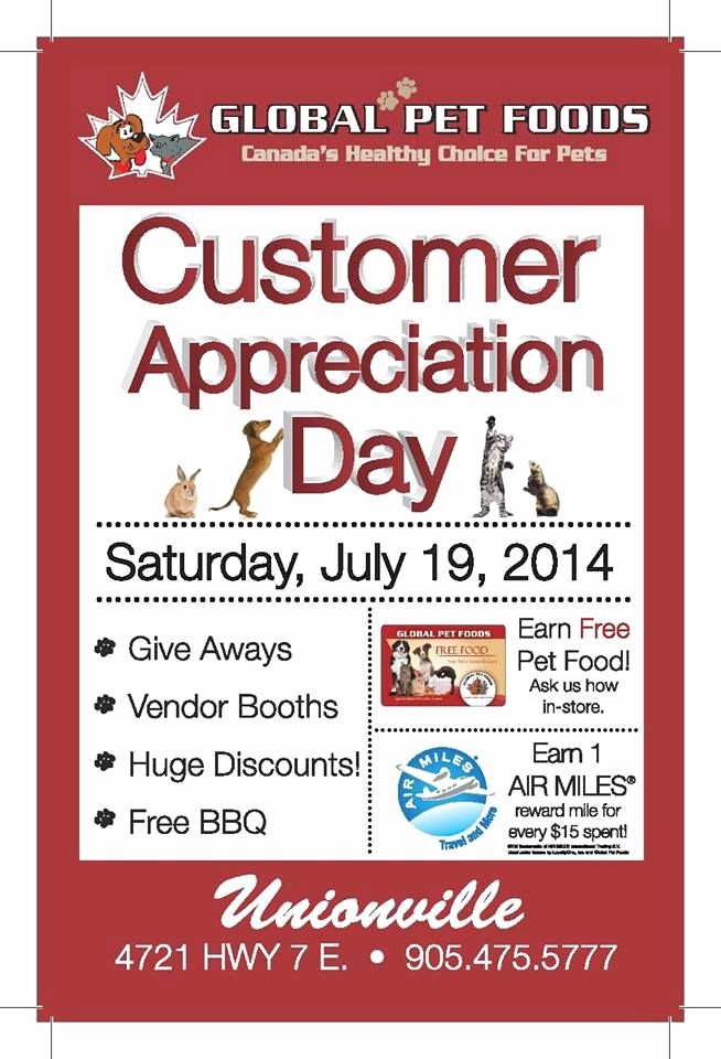 Customer Appreciation Day Flyer Template New Customer Appreciation Day Flyer Template to Pin