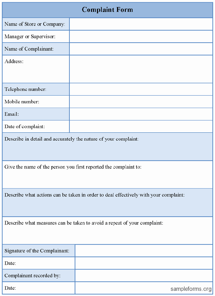 Customer Complaint Template for Excel Awesome Free Customer Plaint form Excel Template Excel About