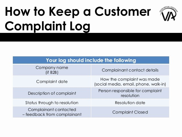 Customer Complaint Template for Excel Awesome How to Keep A Customer Plaint Log – and why