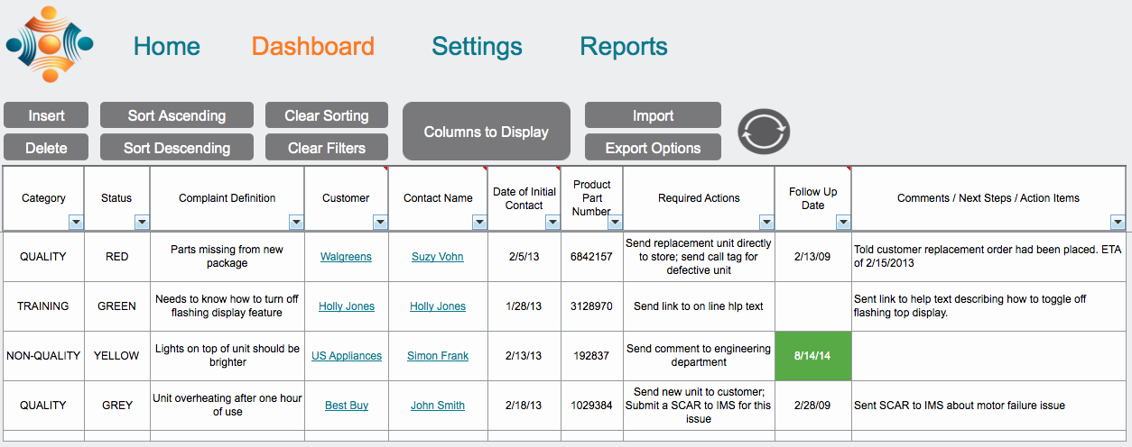 Customer Complaint Template for Excel Awesome W5t Customer Plaint Tracking