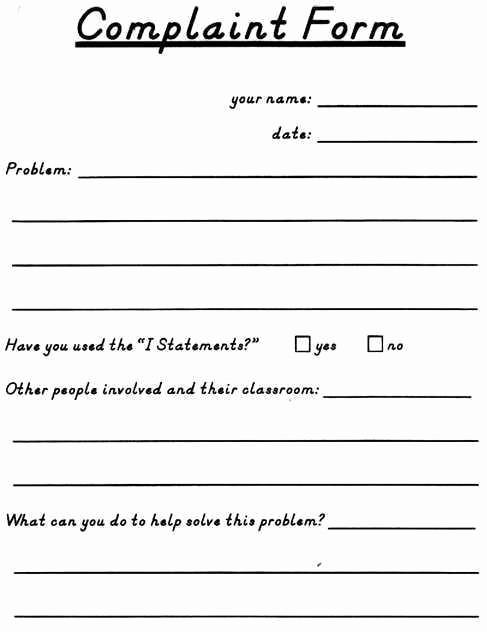 Customer Complaint Template for Excel Elegant 3 Free Customer Plaint form Templates Word Excel