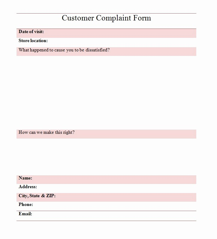 Customer Complaint Template for Excel Elegant Sys2miss 2015