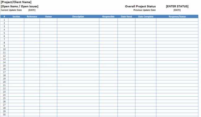 Customer Complaint Template for Excel New Open Items issues Log List Template Excel Xls
