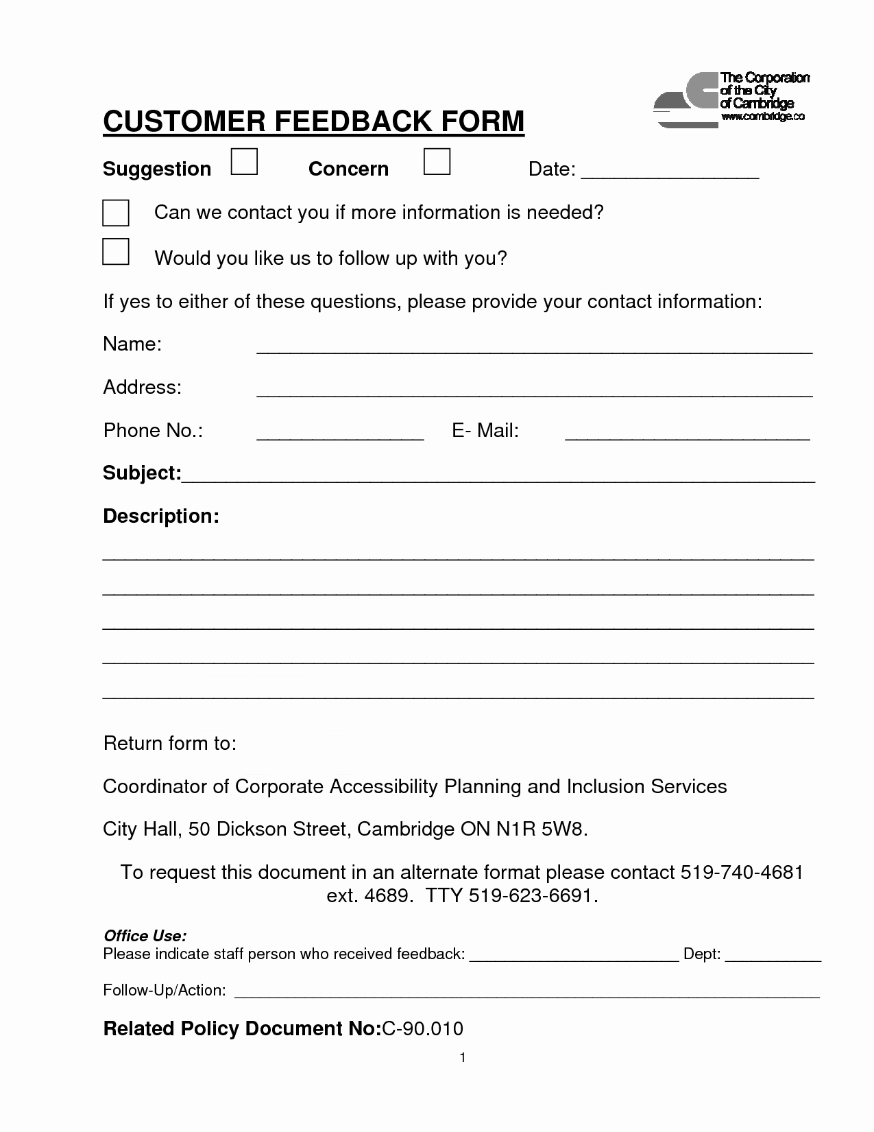 Customer Contact Information form Template Beautiful Customer Contact form