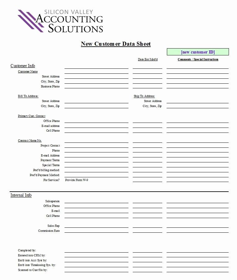 Customer Contact Information form Template Best Of Customer Contact form