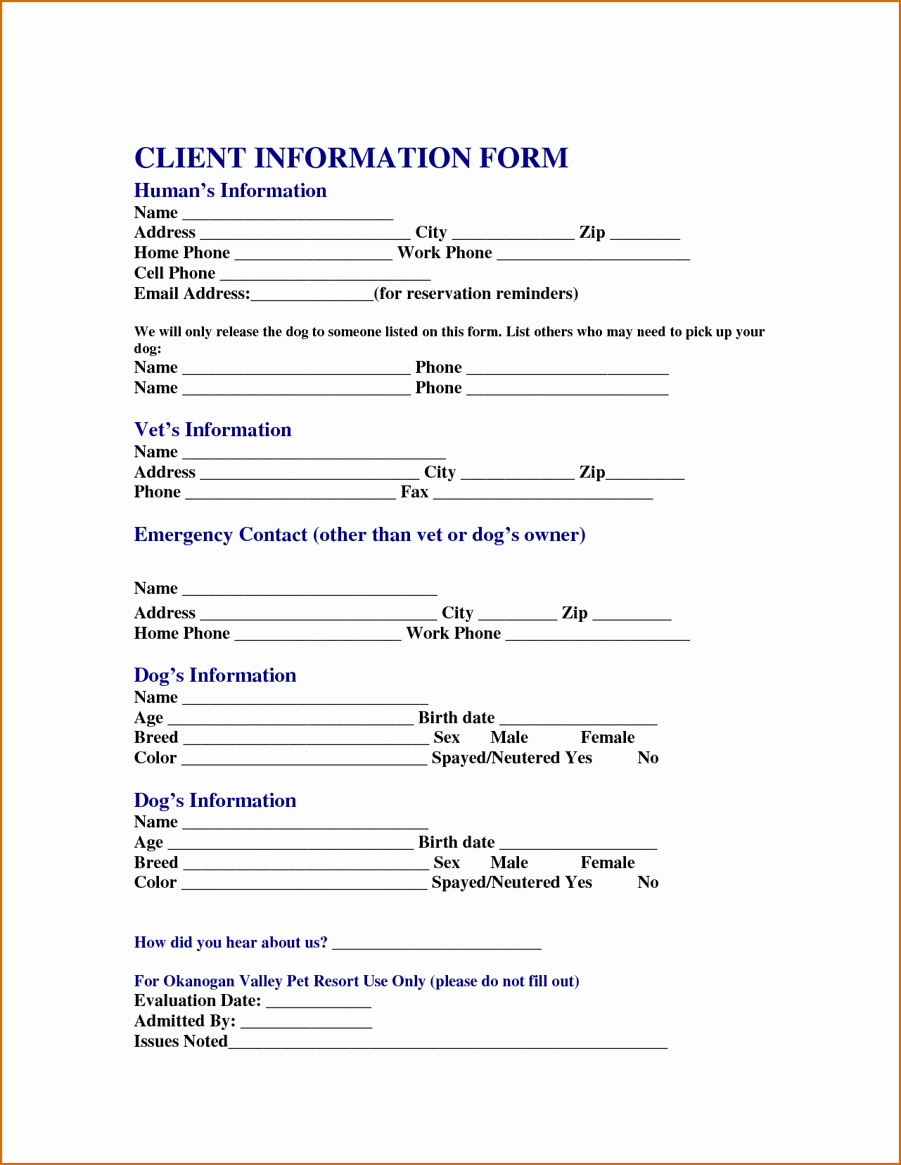 Customer Contact Information form Template New 13 Customer Information form Template