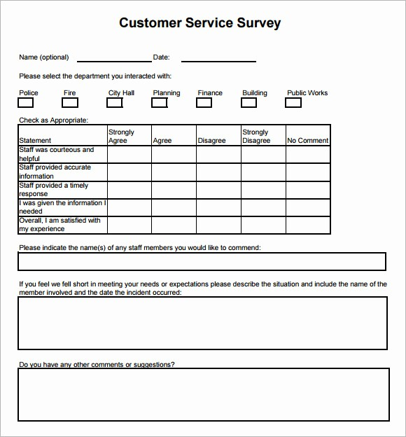 Customer Feedback form Template Word Awesome Customer Satisfaction Survey Template Word