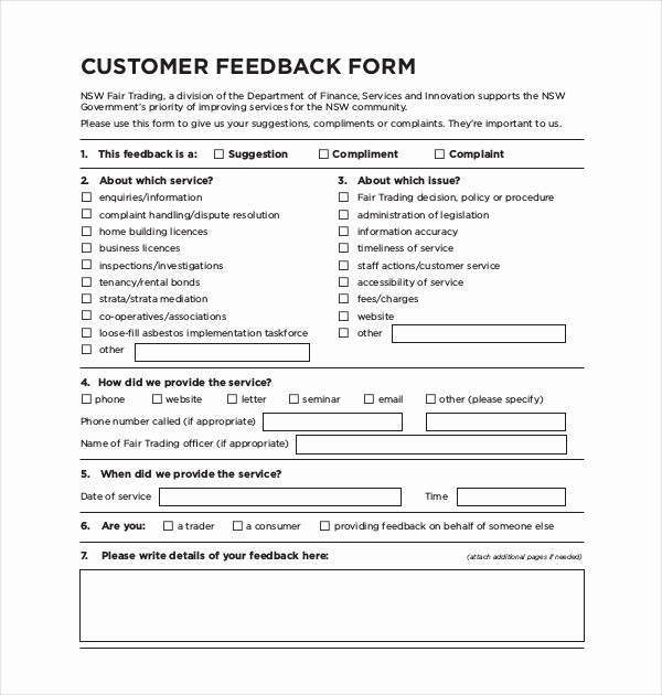 Customer Feedback form Template Word Best Of Sample Customer Feedback form 22 Free Documents In Pdf