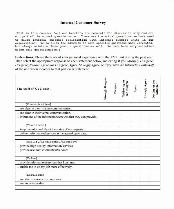 Customer Feedback form Template Word Luxury 9 Customer Satisfaction Survey Template