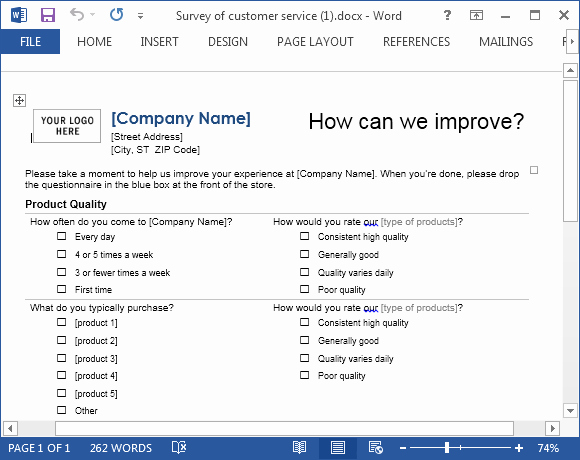 Customer Feedback form Template Word Luxury Customer Service Template for Word